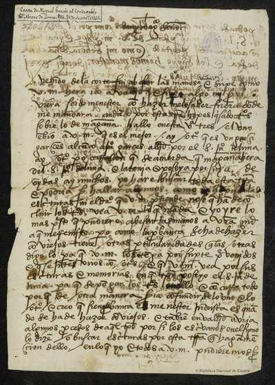 Carta de Miguel Garcés a Álvaro de Luna, Ágreda, 31 mayo, [14]21