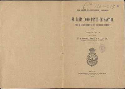 El latín como punto de partida para el estudio científico de las lenguas romances