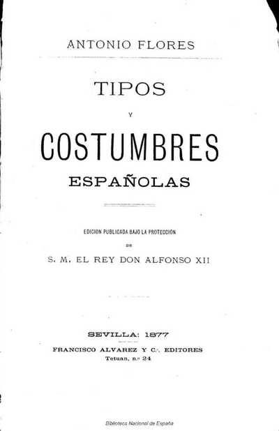 Tipos y costumbres españolas