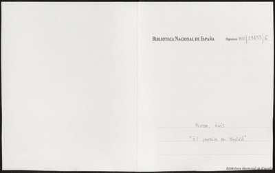 El paraíso en Madrid [Manuscrito]: gacetilla de la capital, en tres actos. Emp.: ¡Ay, qué algazara, qué confusión! (h. 3)… Fin.: ¡Dios lo quiera, amén, Jesús! (h. 133v)