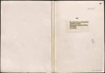El palco de la presidencia [Manuscrito] :]zarzuela cómica en prosa, en un acto y tres cuadros. Emp.: Abre la puerta (h. 1)... Fin.: Para siempre, mamá (h. 36)