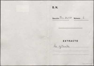 La gitanilla [Manuscrito]: zarzuela original en un acto. Emp.: Si vieran los difuntos (h. 2v)... Fin.: la gitanilla (h. 38v)