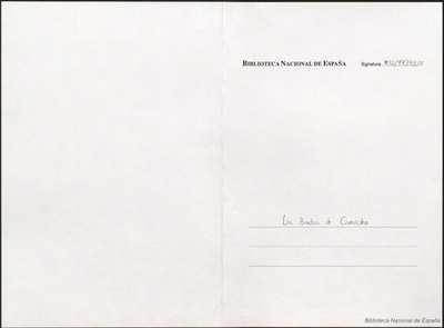 Las bodas de Camacho [Manuscrito]: zarzuela en un acto. Emp.: ¡Viva Quiteria, viva (h. 4)... Fin.: los zaques y las tinajas (h. 42)