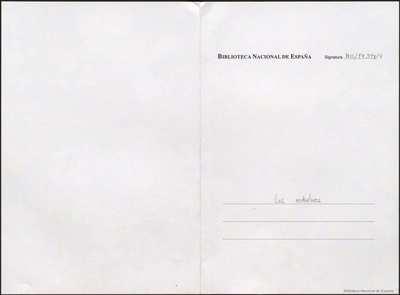 Los redentores [Manuscrito]: juguete cómico-lírico, en un acto y en prosa. Emp.: Toribia... Toribia... (h. 3)... Fin.: y las faltas perdonad (h. 43v)