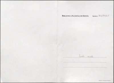 Escuela modelo [Manuscrito] :]juguete cómico-lírico en un acto y tres cuadros. Emp.: A los fuegos sin tardar (h. 3v)... Fin.: tu aprobación (h. 43)