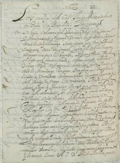 Noticias De Los Servicios Del Capitan Jorge Baeza Y Haro Manuscrito
