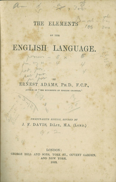 <The >Elements of the English Language