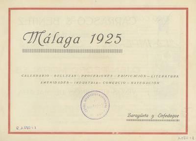 Calendario 1974.Malaga 1925 Calendario Bellezas Procesiones Edificacion