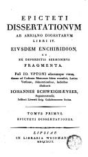 Epictetae philosophiae monumenta