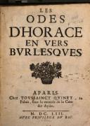 Les odes d'Horace en vers burlesques