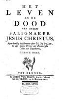Het leven en de dood van onsen saligmaker Jesus-Christus