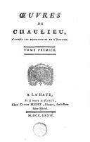 Oeuvres de Chaulieu, d'après les manuscrits de l'auteur