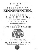 Staat- en zedekundige zinneprenten of Leerzame fabelen
