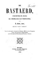 De bastaerd oorspronkelyk drama in 4 bedryven en 5 tafereelen