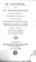M. Vautour, ou le propriétaire sous le scellé vaudeville en un acte