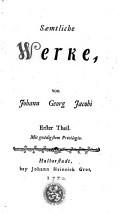Saemtliche Werke, von Johann Georg Jacobi