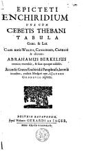 Epicteti Enchiridium una cum Cebetis Thebani tabula græc. et latini
