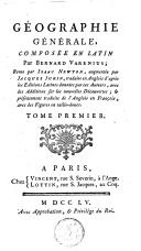 Géographie générale composée en latin