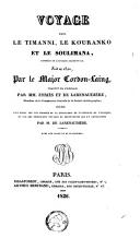 Voyage dans le Timanni, le Kouranko et le Soulimana, contrées de l'Afrique occidentale, fait en 1822 par le major Gordon-Laing