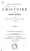 Vue générale de l'histoire du genre humain