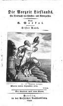 Die Vorzeit Lieflands ein Denkmahl des Pfaffen- und Rittergeistes