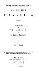 Georg Wilhelm Friedrich Hegel's vermischte Schriften