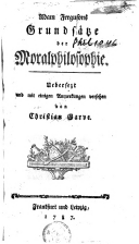 Grundsätze der Moralphilosophie