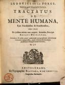 Tractatus de mente humana, ejus facultatibus et functionibus nec non de ejusdem unione cum copore, secundum principia Renati Descartes