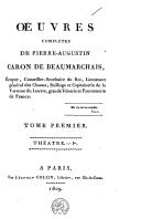 Oeuvres complétes de Pierre Augustin Caron de Beaumarchais