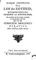 Moriae encomium of de lof der zotheid