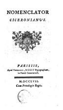 Nomenclator Ciceronianus