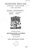 Poematum libri quatuor: quibus continentur: elegiae, amores, varia epigr., tumuli