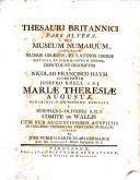 Thesaurus britannicus, seu museum numarium complexum numos graecos et latinos...