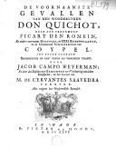 De voornaamste gevallen van den wonderlyken Don Quichot