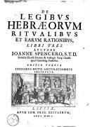 De legibus Hebraeorum ritualibus et earum rationibus, libri tres