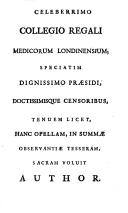 Novae hyotheseos, ad explicanda febrium intermittentium symptomata ..