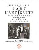 Histoire de l'art de l'antiquité