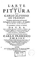 L'arte della pittura di Carlo Alfonso du Fresnoy