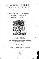 Andini poematum libri quatuor, quibus continentur: Elegiae, Variae epigrammata, Amores, Tumuli