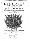 Histoire généalogique de la maison de Gondi