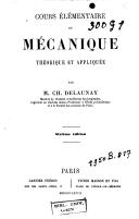 Cours élémentaire de mécanique théorique et appliquée
