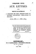 Cinquième suite aux lettres pour servir de matériaux à l'histoire des deux introductions du système linguistique neerlandais en Belgique 1816-1830 et 1836-1844