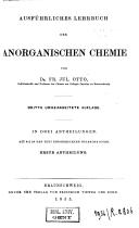 Graham-Otto's ausführliches Lehrbuch der Chemie