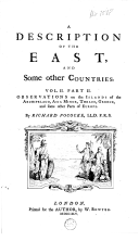 A description of the East, and some other countries
