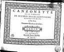 Canzonette alla Romana de diversi eccellentissimi mvsici Romani a tre voci