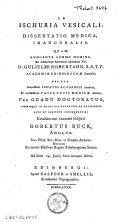 De ischuria vescali dissertatio medica, inauguralis