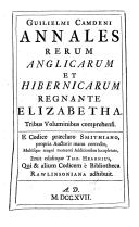 Annales rerum Anglicarum et Hibernicarum regnante Elizabetha