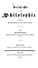 Geschichte der Philosophie / Reinhold, Ernst nach den Hauptmomenten ihrer Entwicklung