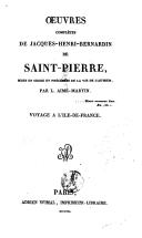 Oeuvres complètes de Bernardin de Saint-Pierre