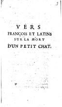 Vers françois et latins sur la mort d'un petit chat